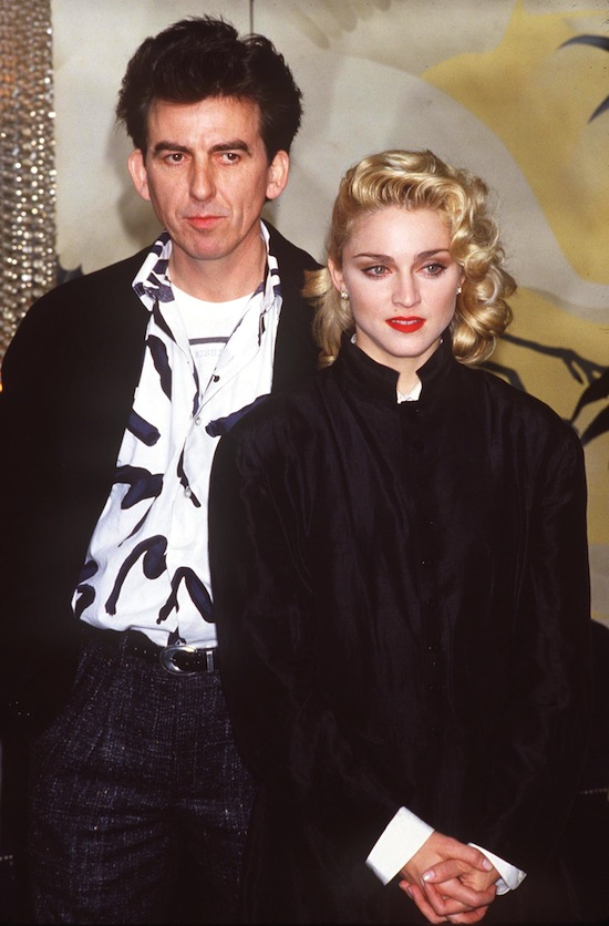 George Harrison And Madonna Promote 'Shanghai Surprise'