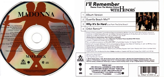i'll remember canadian cd-maxi back disc