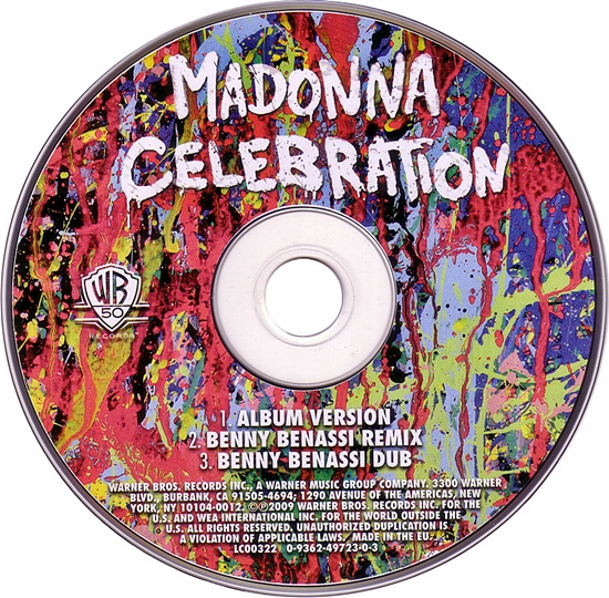 Celebration (EU CD) 550