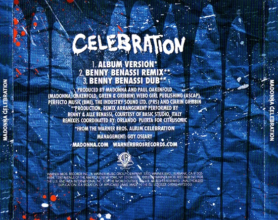 Celebration (EU Single Back) 550