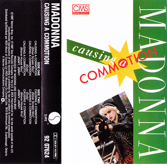 Causing A Commotion (Canadian CMS - Sleeve)