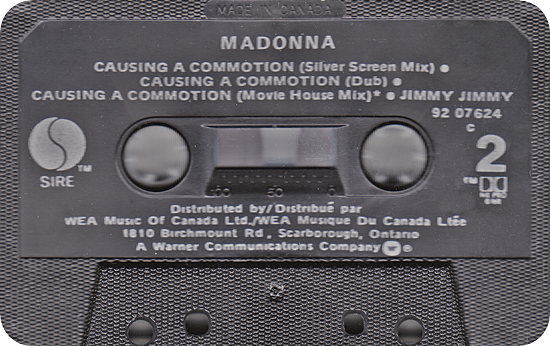 Causing A Commotion (Canadian CMS - Tape)