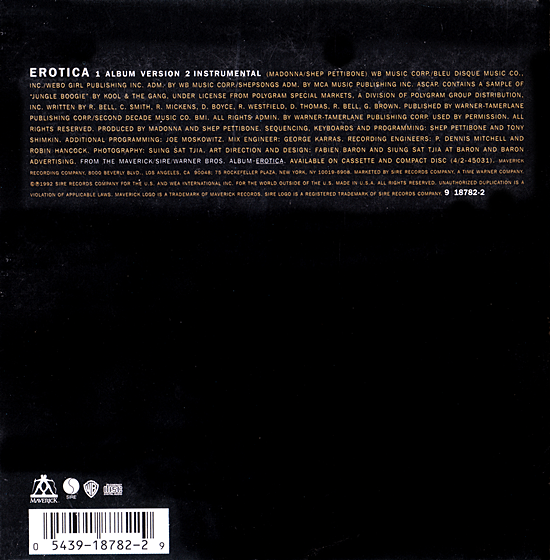 Erotica US CD Single Back Sleeve 550