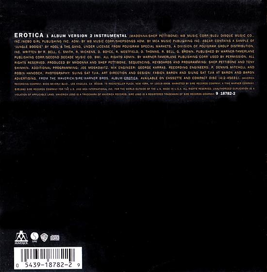 Erotica US CD Single Back Sleeve 550