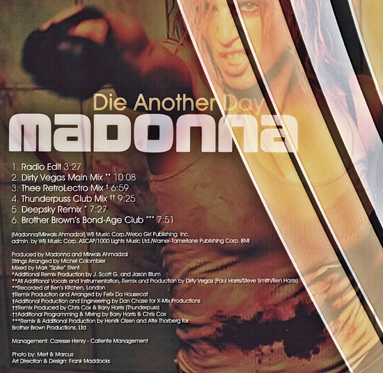 Die Another Day (Remixes) 3 550