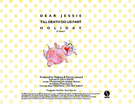 Dear Jessie CD Single_Back Cover