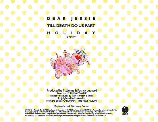 Dear Jessie CD Single_Back Cover