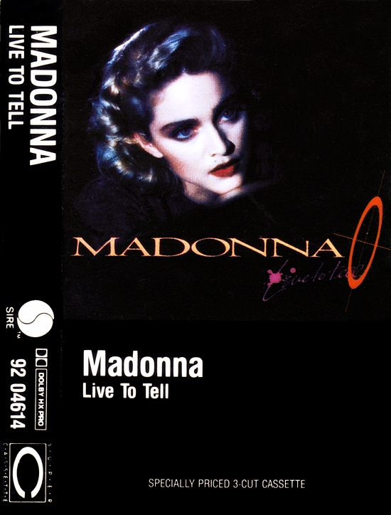 Live To Tell - Canadian Cassette Maxi-Single Cover
