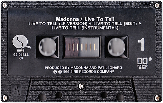 Live To Tell - Canadian CMS - Cassette