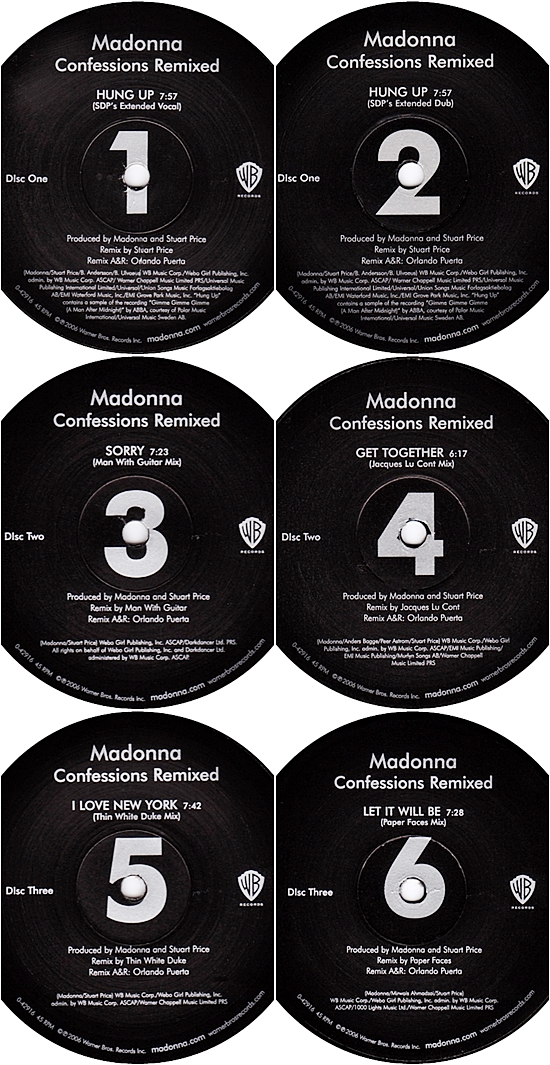 confessions remixed labels