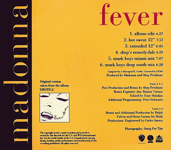 fever uk cds inner