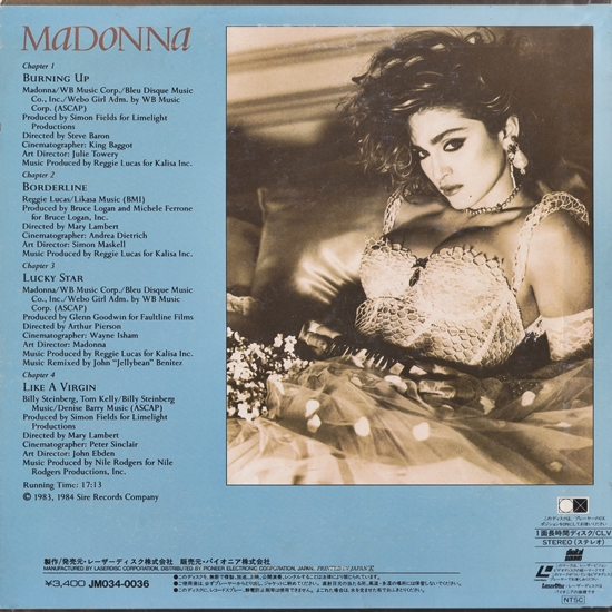 Madonna Japan Laserdisc Back 550