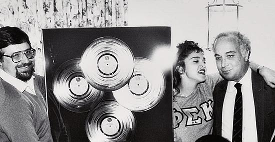 Madonna receives Canadian sales award Maple Leaf Gardens-Toronto-1985 (550)