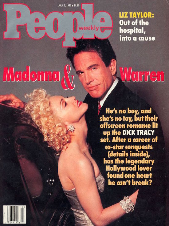 On July 2 1990 Madonna Was Featured The Cover Of People Magazine With Warren Beatty To Promote Dick Tracy