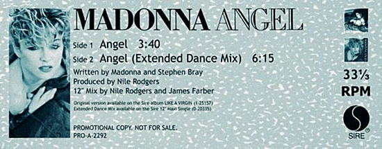 Angel Promo Label - 550