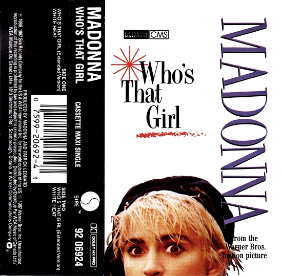 Who's That Girl Canadian CMS - Cover Insert 550