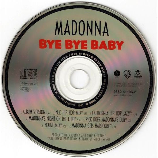 Bye Bye Baby « Today In Madonna History