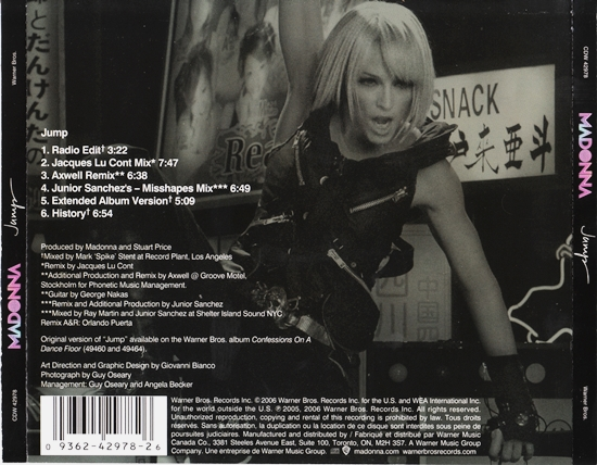 Jump Canadian CD Maxi back