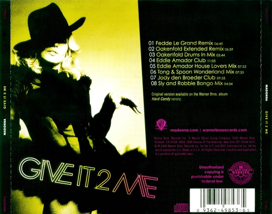 Madonna-Give It 2 Me US CDMS Back 550